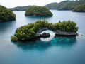 The Rock Islands in Micronesia as seen from the air.The Islands are made up of Limestone so they slowly erode over the years. What a beatifull country with fantasic and friendly people and diving that is out of this world. 